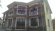 Вентилируемые фасады,  монтаж керамогранита